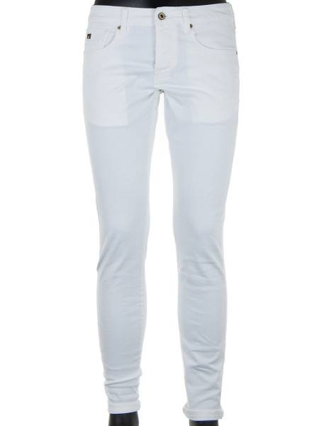 White Garment Dyed Denim Jeans