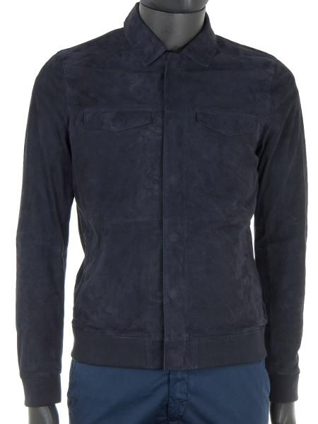 Ocean Blue Suede Jacket
