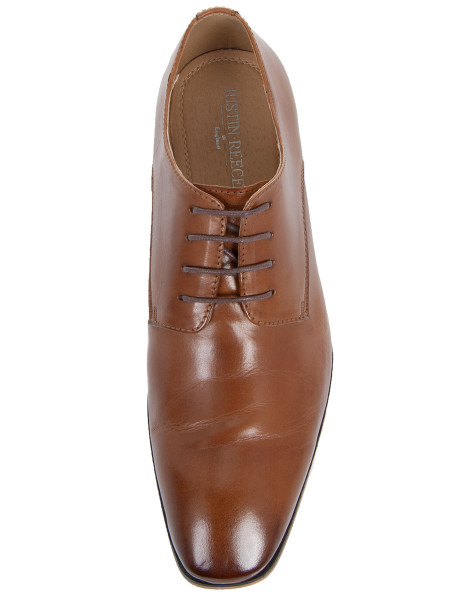 Cognac Square Toe Shoe