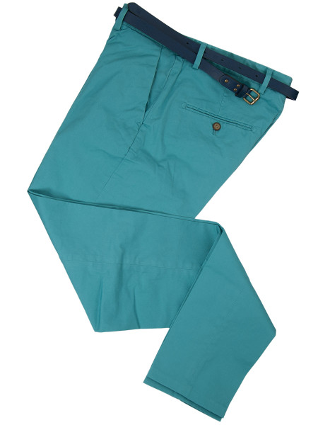 Super Slim Fit Sky Green Chinos