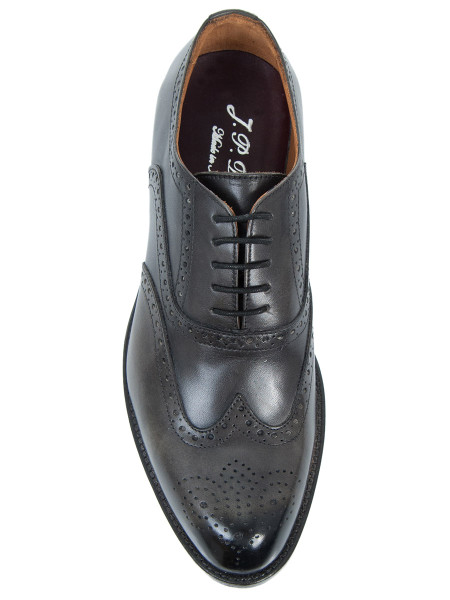 Charcoal Leather Brogue