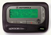 Motorola Advisor Elite Alpha/Numeric Pager Receives numeric and text messages