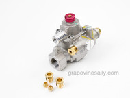 "NEW Robertshaw TS-11 Safety Valve w/ Pilot Fittings. Warranty 1 Year. Gas Connection - Inlet/Outlet - 7/16 Compression. Included are 1/4"" and 3/16"" pilot fittings.  We recommend you have a certified professional or company with experience in this area install this part.    We have most styles of Robertshaw Model BJ Thermostats and Safety Valves that are used with the vintage OK&M and Wedgewood and other vintage stoves IN STOCK NOW and ready to install."