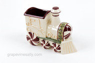 "Ceramic Christmas Train Nut and Candy Holder MEASUREMENTS: Length: 7.0"" Width: 3.0"" / Heigh: 6.0"""