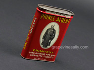 Nice vintage Prince Albert tobacco tin which dates from 1964-1974. The tobacco tin measures almost 4.25 x 3 x 1 inch. In very good shape with minor wear. 1-1/2 oz can. This variation is the only difference in tins. Tin is empty.