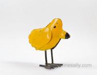"Yellow Birdie Tin Folk Art MEASUREMENTS: Length 7-1/4""  /  Height 7.0"" / Width 3-1/2"""
