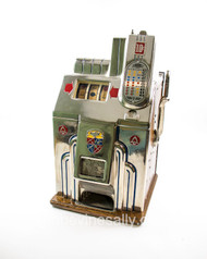 "This is a RESTORED and working 1938 vintage MILLS Slot Machine. It works beautifully and been recently restored. Very nice all original condition. Rear panel locking key included.   MEASUREMENTS:  H 28""  /  W 16""  /  D 15.5""  No Shipping. These machines are very heavy, you are welcome pick up at our Ventura shop. Contact to make appointment."