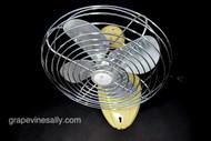 """Working Vintage 1960's WIZARD Table Top Oscillating  Fan -   MEASUREMENTS: H 13""""  /  Fan Guard W 12""""  /  Fan Blade W 10""""  /  D 8.0"""""""