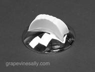 "Original Vintage ROPER stove burner knob dial w/ NEW CHROMED bezel ring. This bezel reads 'ON"" and ""OFF""  MEASUREMENTS: Underside Outer Diameter: 2.0"""