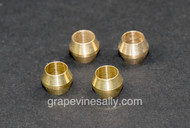 """4 Ferrules new in package - Fit 3/16"""" Gas Pilot Tubing. Traditionally most gas pilot lines on the vintage stoves are 3/16"""".  We recommend you consult with a certified professional or a company with a working knowledge of vintage gas stoves, and gas related products prior to the installation of this part."""