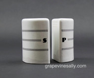 """Original Vintage Ceramic S&P Shakers - These are in very used condition, there are no chips, breaks or scratches.  Great for a vintage themed space.  Each Shaker Measures: (at base) Width 2-3/8"""" / Height 4.0""""  /  Depth 2.0"""""""