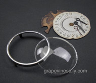 Original Vintage TAPPAN Stove Clock Hands, Face, Glass, and Chrome Bezel
