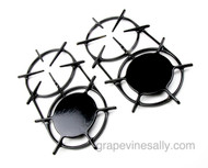 """Last Set!  NEW PORCELAIN ENAMELED Burner Grates. 2 Original Single Piece Classic Vintage Wedgewood Stove Single Piece Grates. Two Simmer / Two Open   MEASUREMENTS Overall Ring Length 16-3/4"""" / Overall Ring Width 8.0"""""""
