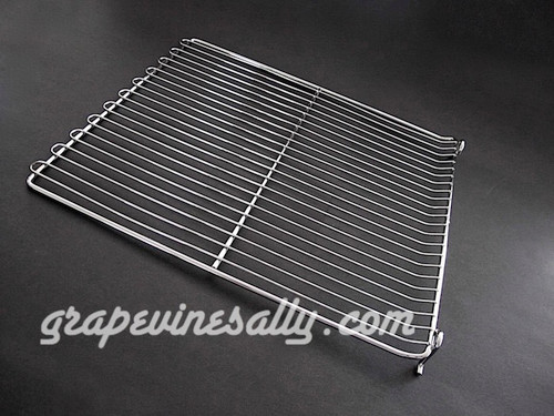 """Original Vintage Stove NEW CHROMED Oven Rack with Stops. This is an original vintage oven rack, it fits the main gas stove ovens of many vintage stoves. This style has the loops on the end.  MEASUREMENTS: Length 19.0""""  /  Width: 15-7/8"""""""