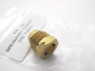 "New in the package - 1 Brass Breakaway Ferrule 7/16"" Tubing  Used with the 7/16 gas aluminum tubing found in the vintage stoves connecting thermostats and safeties."