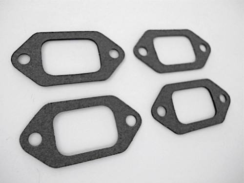 """Use What The Pros Use! Set of 4 NEW GAS BURNER GASKETS. These are NEW Stove Top Burner Gaskets. They fit the vintage O'Keefe & Merritt, Wedgewood, Roper and other stove brands from the 40's, 50's and 60's. MEASUREMENT: Gasket Mounting Holes 2.0"""" on center"""