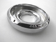 Original Vintage Robertshaw Gas OVEN CONTROL KNOB Bezel Ring. This chrome ring is an original with NEW CHROME. Rear Sleeve Depth: 1/4""