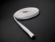 "Extra protection for oven wires and vintage clock/timer wiring. Protects from temperatures up to 1000° F is combined with the ability to accommodate irregularly shaped objects. Sleeving is fiberglass and resists burning. Use to help protect wires, cables located near ovens and furnaces. Temperature range is -60° to 1000° F. ID 1/4""  Expandable ID 3/8""  /  Wall Thickness 1/32""  /  Color - Beige  /  FREE SHIPPING"
