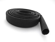 "UL recognized. This sleeving is braided from fiberglass that is heat-treated and coated with high-temperature resins. Still quite flexible, made of fiberglass to withstand the high heat applications. Protect range wiring, vintage stove top clock and timer wiring. Also resists abrasion, chemicals, solvents, and oil. Use where toughness and durability are essential in high-temperature, physically abrasive applications. Temperature range is -90° to 1200° F.   ID 3/8""  /  Wall Thickness 1/16""  /  Color - Black  /  FREE SHIPPING"