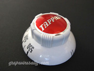 """Original Vintage Robertshaw Tappan Gas Oven Control Knob. This is a Very Rare Find. We have reconditioned this knob, including new lettering. Fits the Robertshaw 2200S vintage thermostats found on vintage Tappan stoves. Bright and shiny, this knob is as close to new as one will find in a used part, there are no cracks, chips or stains. Excellent 'Like New' condition. MEASUREMENTS: Underside outer diameter: 2-1/4"""""""