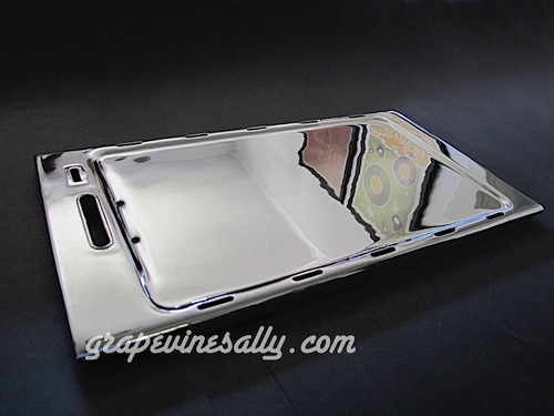 "LAST ONE! NEW CHROMED Original Vintage O'Keefe & Merritt Stove Top Cooking Griddle. Fits 1940's, 1950's OK&M stove models. Please notice the underside configuration (front tapered L&R side edges) to be certain it matches your stove style. Chrome griddle temperature gauge frame, gauge, and frame glass is included and will be installed in griddle prior to shipping.   MEASUREMENTS: 22.0"" x 12.0"" (from underside)   All of our new chromed parts are Triple Plated (copper, nickel, chrome)"
