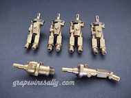 Set of 6 Original Vintage O'Keefe & Merritt Gas Burner Control Valves. Set Includes: 4 gas burner valves + 1 center griddle valve + 1 broiler valve. Our valves are all re-greased, the stems turns smoothly and the threads are in good condition.  THESE VALVES ARE USED - Please note, we recommend you have a certified technician or company with experience in this area inspect these parts prior to installation.