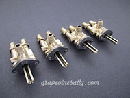 "Set of 4 Original Vintage O'Keefe & Merritt, Wedgewood Gas Burner Control Valves. Set Includes: 4 gas burner valves. Our valves are all re-greased, the stems turns smoothly and the threads are in good condition.  Please note: The orifice holes on this style burner valve are 3/4"" apart, outer edges are 1.0""  THESE VALVES ARE USED - Please note, we recommend you have a certified technician or company with experience in this area inspect these parts prior to installation."
