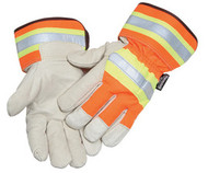 Radnor Cold Weather Gloves (Orange and Gray Pigskin)