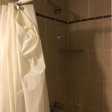 Ceramic tiled showers with easy entry