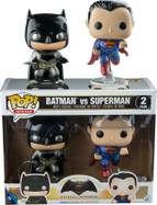 Batman and Superman Metallic Twin Pack US Exclusive - Batman vs Superman - Pop! Heroes Vinyl Figure