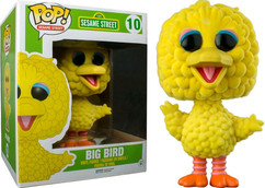 "Flocked 6"" Big Bird - Sesame Street - Pop! Sesame Street Vinyl Figure"