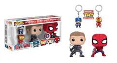 Captain America 3 Civil War - Figure and Keychain 4-pack Exclusive POP! Marvel Vinyl Figure
