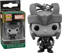 Black and White Loki Exclusive Pocket Pop Keychain - Marvel - POP! Movies Vinyl Figure