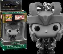 Black and White Loki Exclusive Pocket Pop Keychain - Marvel - POP! Movies Vinyl Figure