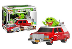 Ghostbusters (2016) - Red Ecto 1 with Slimer SDCC Exclusive - Pop! Vinyl Rides Figure