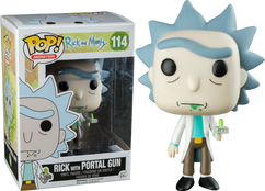 Rick with Portal Gun US Exclusive - Rick and Morty - POP! Animation Vinyl Figure