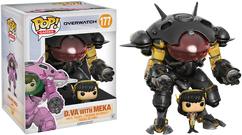 """Overwatch - D.Va & MEKA (Carbon Fibre) US Exclusive 6"""" Pop! Vinyl Figure"""