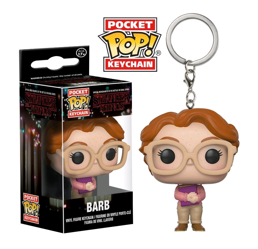 ffd3dbbb060 ... Stranger Things - Barb Pocket Pop! Vinyl Keychain. Image 1
