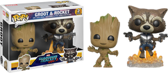 Guardians of the Galaxy: Vol 2 - Groot & Rocket US Exclusive Pop! Vinyl Figure 2-Pack
