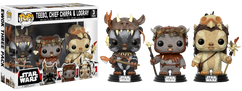 Star Wars - Teebo, Chief Chirpa and Logray US Exclusive Pop! Vinyl 3-Pack