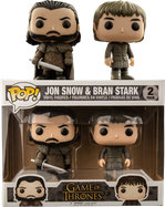 Game of Thrones - Jon Snow & Bran Stark US Exclusive Pop! Vinyl Figure 2-Pack