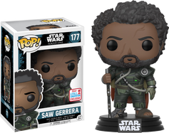 Star Wars: Rogue One - Saw Gerrera with Hair NYCC17 Pop! Vinyl Figure
