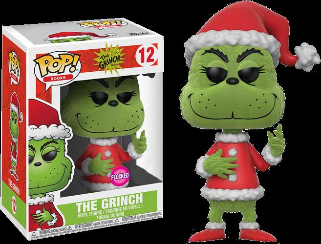 561499d4e49 ... The Grinch - Santa Grinch Flocked US Exclusive Pop! Vinyl Figure. Image  1