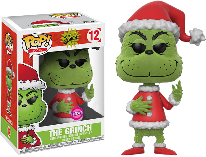 765e3b72082 The Grinch - Santa Grinch Flocked US Exclusive Pop! Vinyl Figure