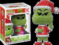 The Grinch - Santa Grinch Flocked US Exclusive Pop! Vinyl Figure