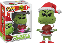 The Grinch - Santa Grinch Flocked Pop! Vinyl Figure