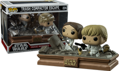 Star Wars - Princess Leia and Luke Skywalker Trash Compactor Escape Movie Moments Pop! Vinyl Figure 2-Pack