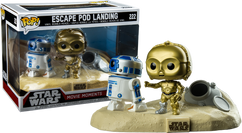 Star Wars - C-3PO and R2-D2 Escape Pod Landing Movie Moments Pop! Vinyl Figure 2-Pack