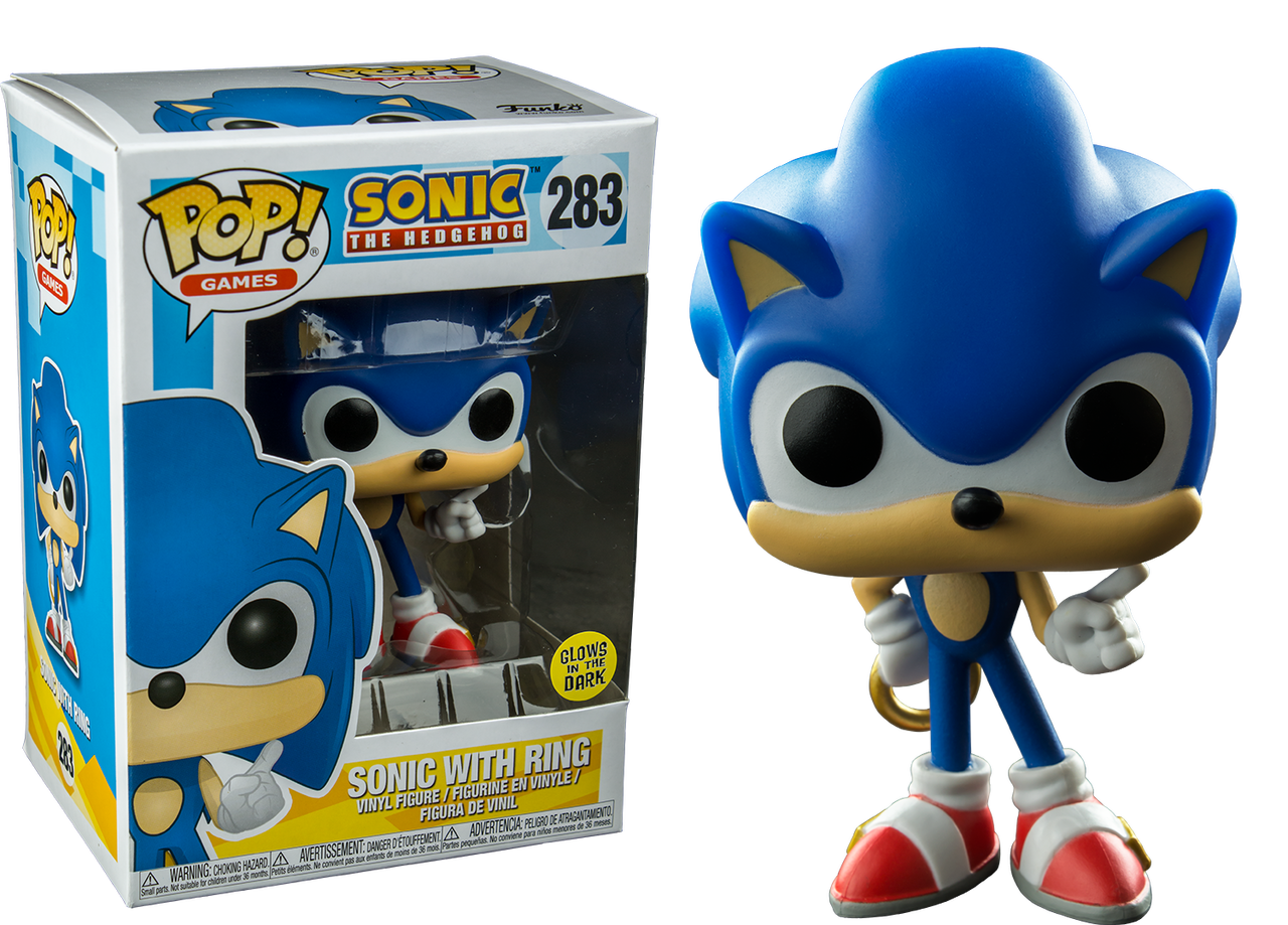 81be140d7f9 Sonic the Hedgehog - Sonic with Ring Glow US Exclusive Pop! Vinyl Figure