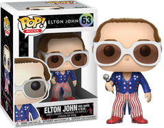 Elton John - Elton John in Red, White and Blue Suit Pop! Vinyl Figure